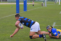 Action from the Horowhenua-Kapiti senior reserves club rugby union match between Athletic and Paraparaumu at Playford Park in Levin, New Zealand on Saturday, 1 August 2020. Photo: Dave Lintott / lintottphoto.co.nz