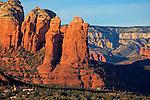 Coffee Pot Rock located in Sedona Arizona.