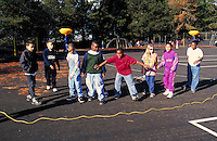 Recess at Carl Munck Elementary School. Playground activities. Oakland, California.