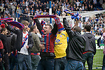 Sheffield Wednesday 2 Crystal Palace 2, 02/05/2010. Hillsborough. Championship. Crystal Palace supporters celebrating on the pitch at Hillsborough after the final whistle of the crucial last-day relegation match against Sheffield Wednesday. The match ended in a 2-2 draw which meant Wednesday were relegated to League 1. Crystal Palace remained in the Championship despite having been deducted 10 points for entering administration during the season. Photo by Colin McPherson.