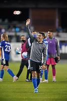 SAN JOSE, CA - MAY 1: Cristian Espinoza #10 of the San Jose Earthquakes during a game between D.C. United and San Jose Earthquakes at PayPal Park on May 1, 2021 in San Jose, California.
