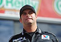 Nov. 13, 2011; Pomona, CA, USA; NHRA funny car driver Matt Hagan during the Auto Club Finals at Auto Club Raceway at Pomona. Mandatory Credit: Mark J. Rebilas-.