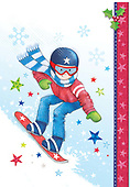 Sharon, CHRISTMAS CHILDREN, WEIHNACHTEN KINDER, NAVIDAD NIÑOS, GBSS,snowboarding, paintings+++++,GBSSC75XOJB,#XK#