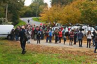 Près de deux cents personnes étaient au départ de la randonnée à 9h30