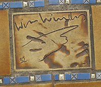 Hand print of the film director, Wim Wenders, outside the Palais des Festivals et des Congres, Cannes, France.