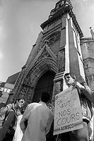 greves des etudiants de l'UQAM, 9 Avril 1987.