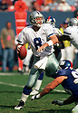 Dallas Cowboys Troy Aikman (8) in action against the New York Giants on October 15, 2000 at Giants Stadium in East Rutherford, New Jersey. The Giants beat the Cowboys 19-14. Troy Aikman played for 12 years, with all with the Cowboys, was a 6-time Pro Bowler and was inducted to the Pro Football Hall of Fame in 2006.(SportPics)