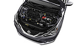 Car Stock 2017 Nissan Sentra SV 4 Door Sedan Engine  high angle detail view