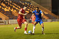 Connor Wilkinson, Leyton Orient looks to get beyond Cohen Bramall, Colchester United during Colchester United vs Leyton Orient, Sky Bet EFL League 2 Football at the JobServe Community Stadium on 14th November 2020