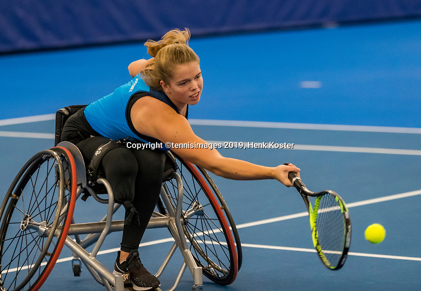Amstelveen, Netherlands, 8  December, 2020, National Tennis Center, NTC, NKR, National  Indoor Wheelchair Tennis Championships, women's junior single: Félice Lentze (NED)<br /> Photo: Henk Koster/tennisimages.com
