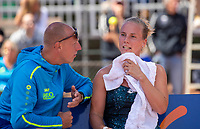 Zandvoort, Netherlands, 9 June, 2019, Tennis, Play-Offs Competition, Richel Hogenkamp (NED)  on the bench <br /> Photo: Henk Koster/tennisimages.com