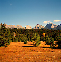 Kootenay National Park, Canadian Rockies, BC, British Columbia, Canada - Mitchell Range Mountains, Autumn / Fall
