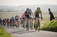 Christopher Juul-Jensen (DEN/Mitchelton-Scott) & Ian Stannard (GBR/SKY) up front<br /> <br /> 62nd E3 BinckBank Classic (Harelbeke) 2019 <br /> One day race (1.UWT) from Harelbeke to Harelbeke (204km)<br /> <br /> ©kramon