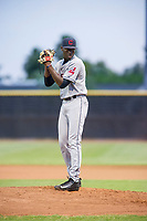 AZL Indians starting pitcher Tahnaj Thomas (47) prepares to deliver a pitch to the plate against the AZL Padres on August 28, 2017 at the San Diego Padres Spring Training Complex in Peoria, Arizona. AZL Padres defeated the AZL Indians 7-4. (Zachary Lucy/Four Seam Images)