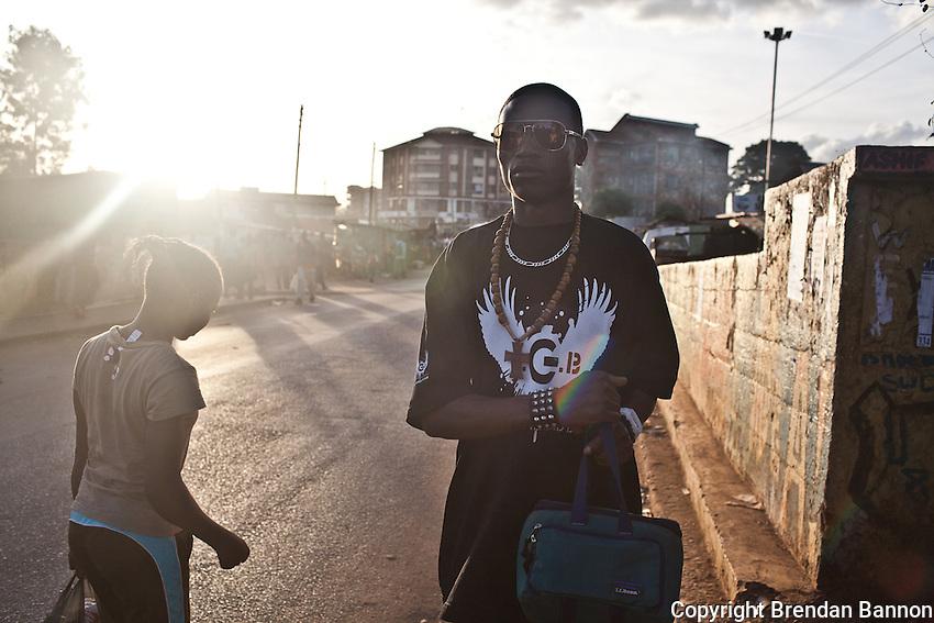 Kenyan hip-hop phenomenon Octopizzo on his home turf in Kibera.