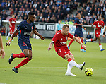 08.08.2019 FC Midtjylland v Rangers: Scott Arfield with a shot
