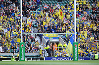 ASM Clermont Auvergne fans during the Heineken Cup semi-final match between Saracens and ASM Clermont Auvergne at Twickenham Stadium on Saturday 26th April 2014 (Photo by Rob Munro)