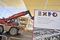- Milano, cantiere per  l'Esposizione Mondiale Expo 2015<br /> <br /> - Milan,  construction site for the World Exhibition Expo 2015