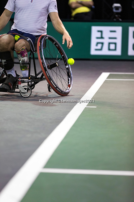 Rotterdam, The Netherlands, 4 march  2021, ABNAMRO World Tennis Tournament, Ahoy, First round wheelchair: Martin de la Puente (ESP).<br /> Photo: www.tennisimages.com/