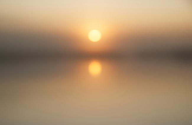 Sunrise on Klamath Lake, Oregon.