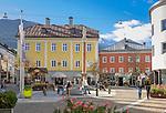 Austria, East-Tyrol, Lienz: square Johannesplatz at Old Town   Oesterreich, Osttirol, Lienz: Johannesplatz in der Altstadt