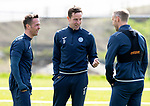 St Johnstone Training…04.05.18<br />Chris Millar, Steven MacLean and Steven Anderson pictured during training this morning at McDiarmid Park<br />Picture by Graeme Hart.<br />Copyright Perthshire Picture Agency<br />Tel: 01738 623350  Mobile: 07990 594431