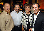 Shelby Kibodeaux, Bruce Padilla, Mary Padilla and Hans Schmitt at the grand opening of the Valentino restaurant at the Hotel Derek Thursday Oct. 15,2009. (Dave Rossman/For the Chronicle)