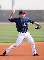 Lonnie Chisenhall. Cleveland Indians spring training workouts at their complex in Goodyear, AZ - 03/06/2010.Photo by:  Bill Mitchell/Four Seam Images.