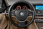 Steering wheel view of a 2013 BMW 5 Series 530d Wagon