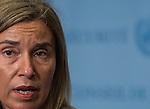 Press Encounter  by Ms. Federica Mogherini, European Union High Representative for Foreign Affairs a