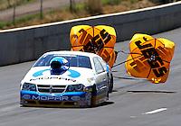 Jul. 21, 2013; Morrison, CO, USA: NHRA pro stock driver Allen Johnson during the Mile High Nationals at Bandimere Speedway. Mandatory Credit: Mark J. Rebilas-
