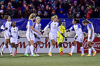 East Hartford, Conn. - April 6, 2016: The U.S. Women's National team take a 6-0 lead over Colombia during second half play in an international friendly match at Pratt & Whitney Stadium.