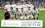 Real Madrid's team photo up fltr, Pepe, Raul Albiol, Sergio Ramos, Karim Benzema and Xabi Alonso. Down fltr Iker Casillas, Kaka, Marcelo, Gonzalo Higuain, Alvaro Arbeloa and Lass Diarra during La Liga match. October 31, 2009. (ALTERPHOTOS/Alvaro Hernandez).