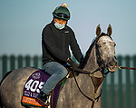 November 2, 2020: Harvey'S Lil Goil, trained by trainer William I. Mott, exercises in preparation for the Breeders' Cup Filly & Mare Turf at at Keeneland Racetrack in Lexington, Kentucky on November 2, 2020. Alex Evers/Eclipse Sportswire/Breeders Cup