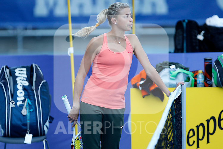 Andrea Hlavackova in training session during Madrid Open Tennis 2012 Match.May, 9, 2012(ALTERPHOTOS/ALFAQUI/Acero)