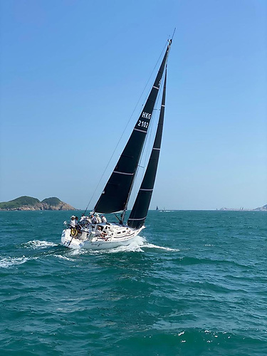 The boat now is superbly balanced and sails higher and faster than she ever did and she does not heel as much