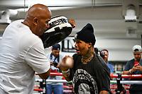 Las Vegas NV - June 09:  Gervonta Davis Media workout at Mayweather Boxing Club in Las Vegas, NV on June 09, 2021. Credit: DeeCee Carter/MediaPunch
