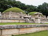 Königsgrab Kong Min bei Kaesong, Nordkorea, Asien, UNESCO-Weltkulturerbe<br /> Royal tomb Kong Min near Kaesong, North Korea, Asia, world heritage
