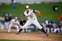 West Michigan Whitecaps relief pitcher Jason Foley (20) delivers a pitch during a game against the Clinton LumberKings on May 3, 2017 at Fifth Third Ballpark in Comstock Park, Michigan.  West Michigan defeated Clinton 3-2.  (Mike Janes/Four Seam Images)