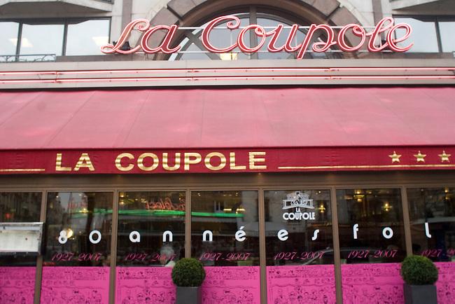 Exterior, La Coupole, Paris, France, Europe