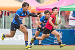The match between South Korea and Singapore of the Asia Rugby U20 Sevens Series 2016 on 12 August 2016 at the King's Park, in Hong Kong, China. Photo by Marcio Machado / Power Sport Images