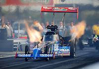 Apr. 29, 2011; Baytown, TX, USA: NHRA top fuel dragster driver T.J. Zizzo during qualifying for the Spring Nationals at Royal Purple Raceway. Mandatory Credit: Mark J. Rebilas-