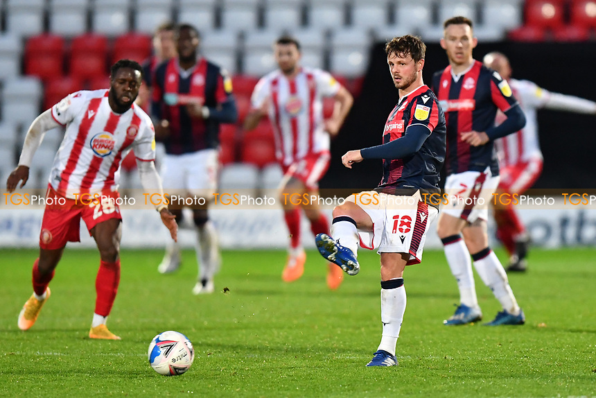 Andrew Tutte of Bolton Wanderers F.C. during Stevenage vs Bolton Wanderers, Sky Bet EFL League 2 Football at the Lamex Stadium on 21st November 2020