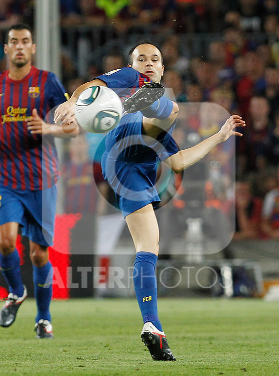 FC Barcelona's Andres Iniesta during Spanish Supercup 2nd match.August 17,2011. (ALTERPHOTOS/Acero)
