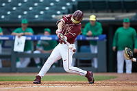 Tyler Holton (14) of the Florida State Seminoles at bat against the Notre Dame Fighting Irish in Game Four of the 2017 ACC Baseball Championship at Louisville Slugger Field on May 24, 2017 in Louisville, Kentucky. The Seminoles walked-off the Fighting Irish 5-3 in 12 innings. (Brian Westerholt/Four Seam Images)