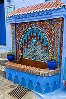 Chefchaouen, Morocco.  Public Water Tap in the Medina.