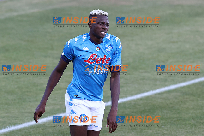 Victor Osimhen of SSC Napoli dejection<br /> during the friendly football match between SSC Napoli and SS Teramo Calcio 1913 at stadio Patini in Castel di Sangro, Italy, September 04, 2020. <br /> Photo Cesare Purini / Insidefoto
