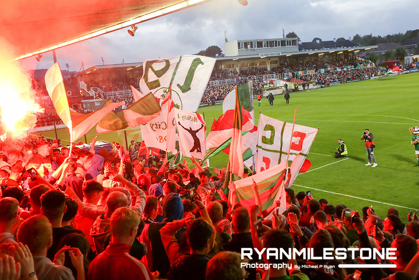 2017 SSE Airtricity League Premier Division,<br /> Cork City vs Dundalk,<br /> Turners Cross,<br /> Monday 25th September,<br /> General View of Cork City fans.<br /> Photo By: Michael P Ryan