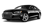 Stock pictures of low aggressive front three quarter view of 2019 Audi A5-Sportback Premium 5 Door Hatchback Low Aggressive