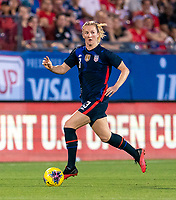 FRISCO, TX - MARCH 11: Sam Mewis #3 of the United States dribbles during a game between Japan and USWNT at Toyota Stadium on March 11, 2020 in Frisco, Texas.